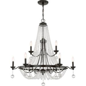 Livery - 9 Light 2-Tier Large Chandelier