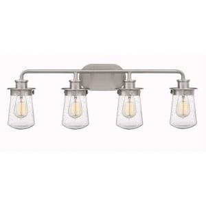 Lewiston 4 Light Transitional Bath Vanity Approved for Damp Locations - 10.5 Inches high