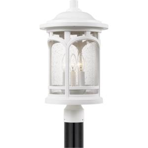 Marblehead - 3 Light Outdoor Post Lantern - 19 Inches high