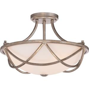 Milbank - 3 Light Semi-Flush Mount