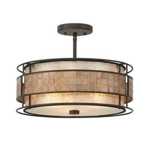 Mica - 3 Light Large Semi-Flush Mount