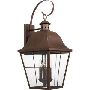 Millhouse 27.25 Inch Outdoor Wall Lantern Traditional Steel Approved for Wet Locations