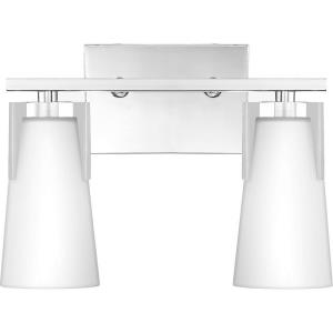 Miriam 2 Light Transitional Bath Vanity Approved for Damp Locations - 9.75 Inches high