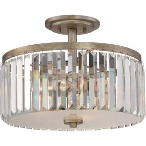 Mirage - 3 Light Semi-Flush Mount - 11.25 Inches high