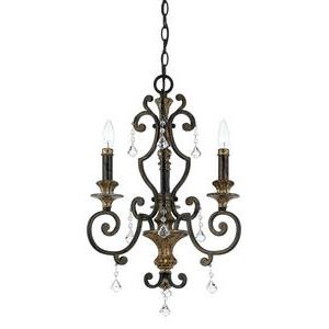 Marquette Mini Chandelier 3 Light  Steel