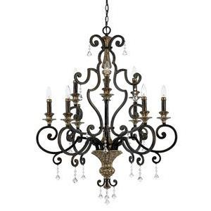 Marquette Chandelier 9 Light  Steel