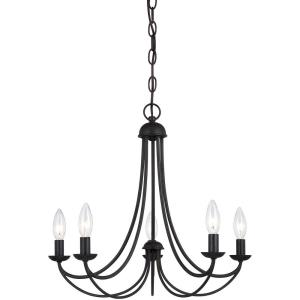 Mirren Chandelier 5 Light  Steel - 18 Inches high