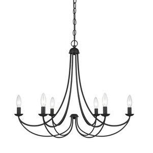 Mirren Chandelier 6 Light  Steel