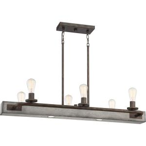 Melville LInear Chandelier 6 Light  Steel