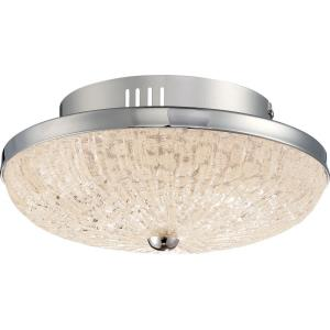 Moon Rays - 12 Inch 17W 1 LED Small Semi-Flush Mount