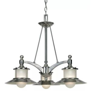 Kool Kitchen New England DInette Chandelier 3 Light  Metal