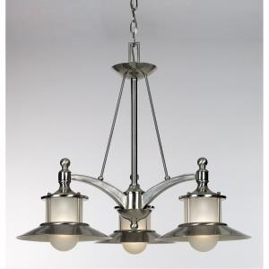 Kool Kitchen New England DInette Chandelier 3 Light  Metal - 22 Inches high