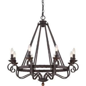 Noble Chandelier 8 Light  Steel - 31 Inches high