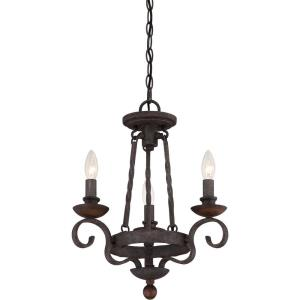 Noble Chandelier 3 Light  Steel