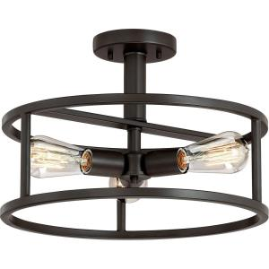 New Harbor - 3 Light Semi-Flush Mount