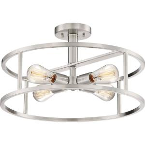 New Harbor - 4 Light Semi-Flush Mount - 10.5 Inches high