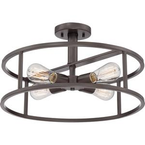 New Harbor - 4 Light Sermi-Flush Mount