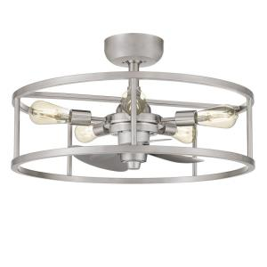 New Harbor - 40W 5 LED Fandelier in Transitional style - 23.75 Inches wide by 8.25 Inches high