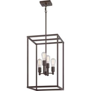 New Harbor Chandelier 4 Light  Steel - 23.5 Inches high