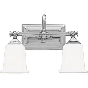 Nicholas 2 Light Transitional Bath Vanity - 10 Inches high
