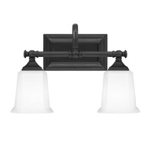 Nicholas 2 Light Transitional Bath Vanity Approved for Damp Locations