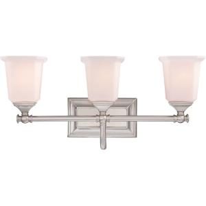Nicholas 3 Light Transitional Bath Vanity - 10 Inches high