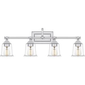 Nicholas 4 Light Transitional Bath Vanity - 10 Inches high
