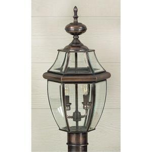 Newbury - 2 Light Large Post Lantern - 21 Inches high