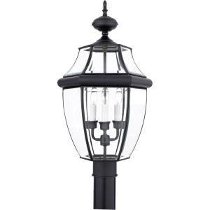 Newbury - 3 Light Large Post Lantern - 23 Inches high