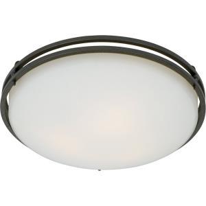 Ozark - 3 Light Flush Mount - 6.5 Inches high