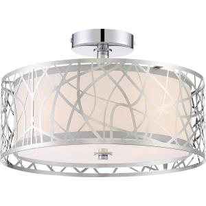Platinum Abode - 3 Light Medium Semi-Flush Mount