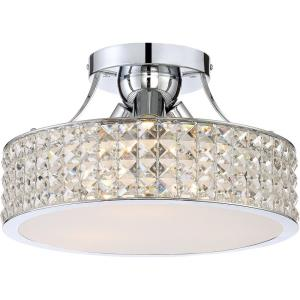 Platinum Alexa - 3 Light Medium Semi-Flush Mount