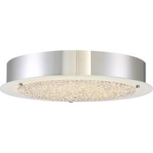 Platinum Blaze - 22W 1 LED Large Semi-Flush Mount - 3 Inches high