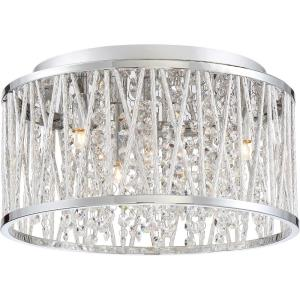 Platinum Crystal Cove - 4 Light Small Semi-Flush Mount - 7.25 Inches high