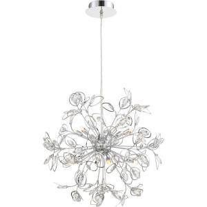 Platinum Crystal Leaf - 8 Light Extra Large Foyer