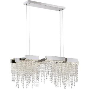 Platinum Collection Crystal Falls - 60W 1 LED Island - 14.25 Inches high
