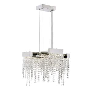 Platinum Collection Crystal Falls - 23.75 Inch 26W 1 LED Semi-Flush Mount