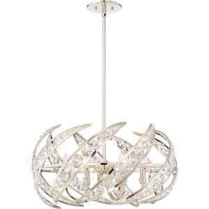 Platinum Crescent - 6 Light Large Pendant