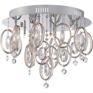 Platinum Ella - 9 Light Flush Mount
