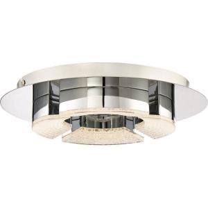 Platinum Lunette - 14W 1 LED Small Semi-Flush Mount - 2.5 Inches high