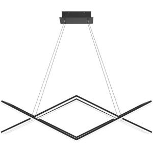 Newman - 45W 1 LED Linear Chandelier in Contemporary style - 36.25 Inches wide by 11 Inches high
