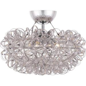Platinum Collection Pageant - 3 Light Semi-Flush Mount