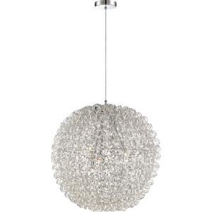 Platinum Pageant - 6 Light Extra Large Pendant
