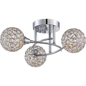 Platinum Shimmer - 3 Light Semi-Flush Mount
