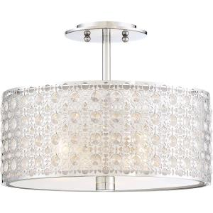 Platinum Verity - 3 Light Medium Semi-Flush Mount