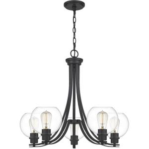Pruitt Chandelier 5 Light  Steel