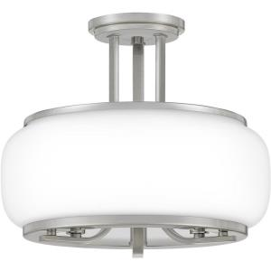 Pruitt - 3 Light Semi-Flush Mount - 11.5 Inches high