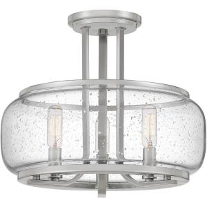 Pruitt - 3 Light Semi-Flush Mount - 11.5 Inches high