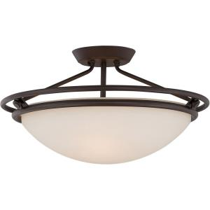 Ashland - 3 Light Semi-Flush Mount - 11 Inches high