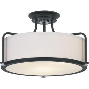 Calvary - 3 Light Semi-Flush Mount in Transitional style - 17.5 Inches wide by 10.5 Inches high
